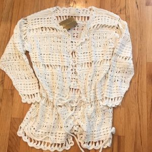Gottex off white crochet swim suit coverup.  NWT
